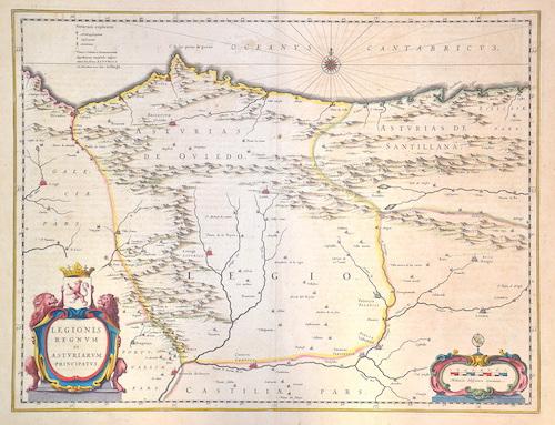 Blaeu  Legionis regnum et asturiarum principatus