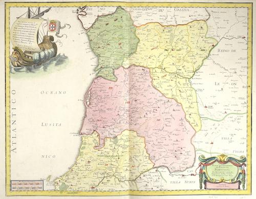 Sanson Guillaume Parte septentrional do Reyno de Portugal