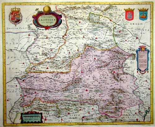Janssonius  Utriusque Castiliae nova descriptio