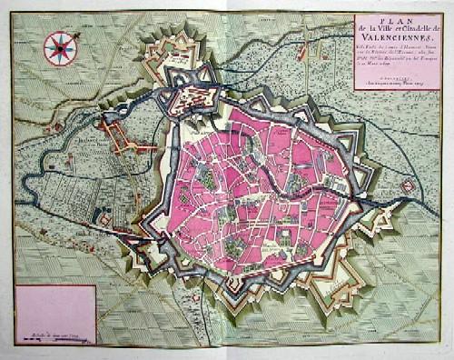Fricx Henry Plan de la ville et Citadelle de Valenciennes