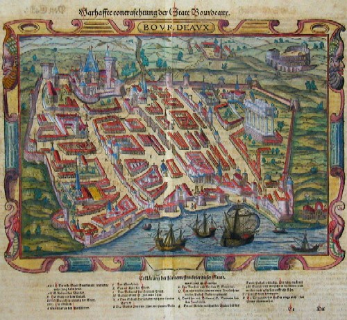 Münster Sebastian Warhaffte contrafehtung der Statt Bodeaux