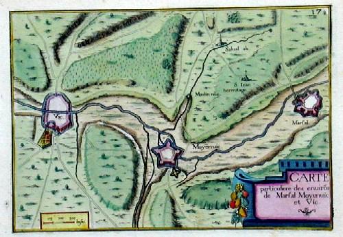 Anonymus  Carte particuliere des environ de Marsal ,Moyenvic et Vic