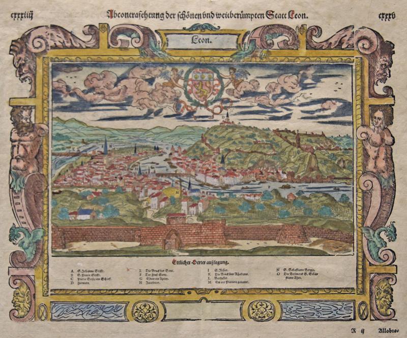 Münster  Abcontrafehtung der schönen und weitberümpten Statt Leon