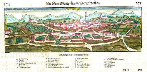 Münster  Die Stadt Montpellier mit ihrer gelegenheit