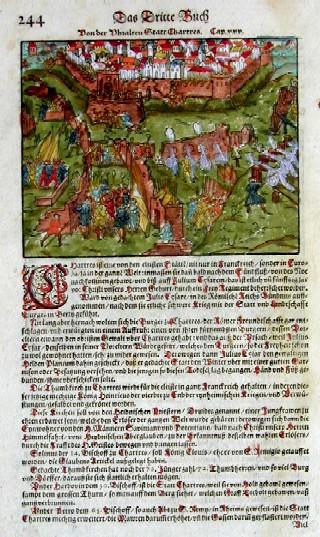 Münster  Von der Sattt Melun/ Von der Uhralten Stadt Chartress
