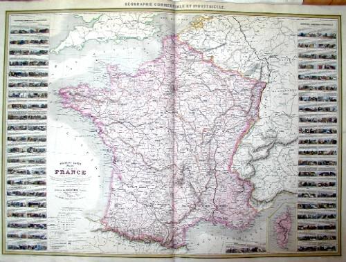 Vuillemin Alexandre Nouvelle Carte illustre de la France…