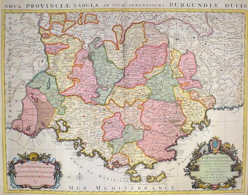 Jaillot Hubert La Provence divisée en ses vigoeries et terres atjacentes….Duc de Burgogne