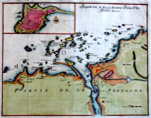 Merian Matthäus Gegend um St. Malo bey dem Einlauff des Flusses Dinan