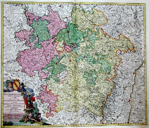 Homann  Lotharingiae Tabula Generalis in qua Ducatus Lotharingiae et Barri nec non Metensis, Tullensis et Verdunensis …