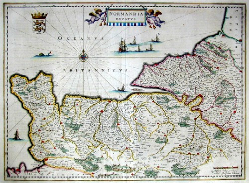 Blaeu Willem Janszoon Normandia ducatus