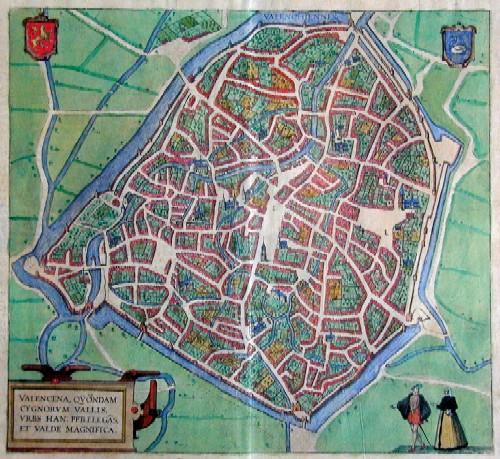 Braun/Hogenberg Franz/ Georg Valencena, quondam Cygnorun vallis, urbs han: perelegas et Valde magnifica