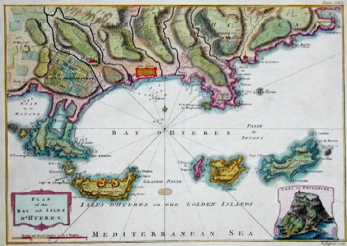 Jefferys Thomas Plan of the bay and isles d´ Hyeres