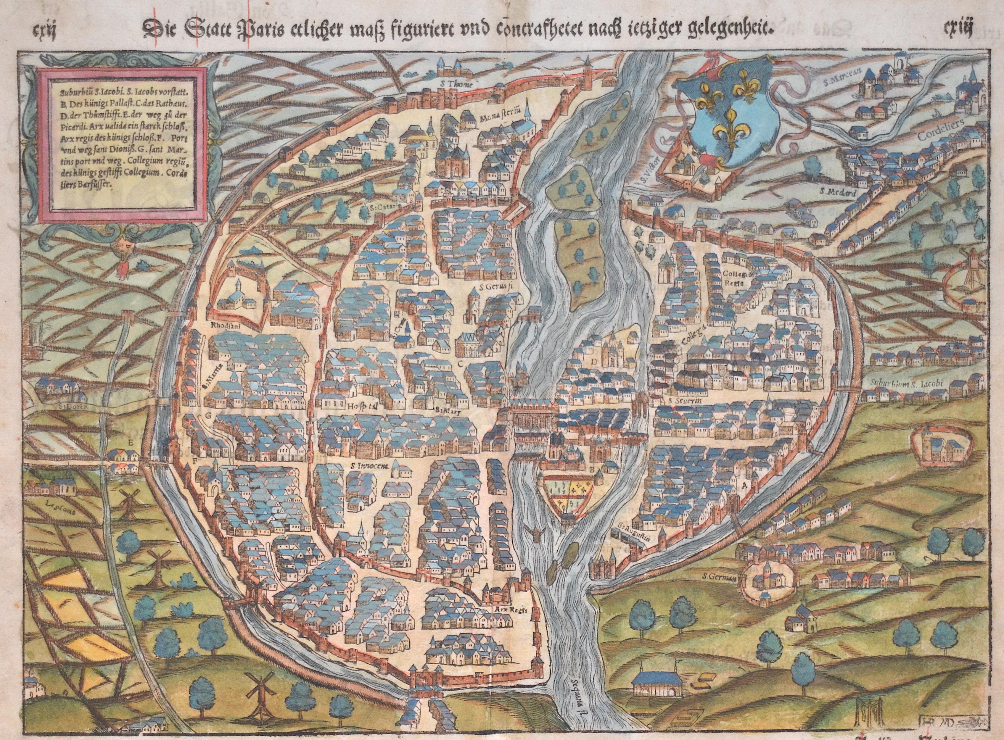 Münster Sebastian Lutetia Parisiorum urbs, Toto Orbe Celeberrima Nossimaque Caput regni Franciae