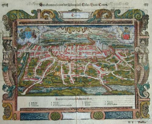 Münster  Die abcontrafactur der schönen und Edlen Statt Tours