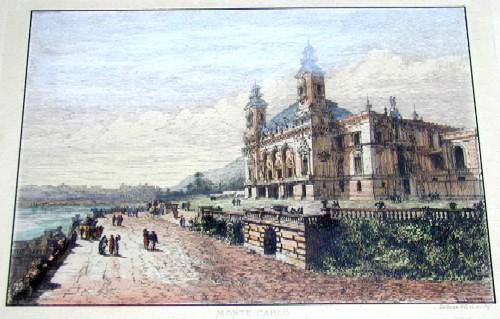 Sadoux  Monte – Carlo vue du Theatre et du Casino