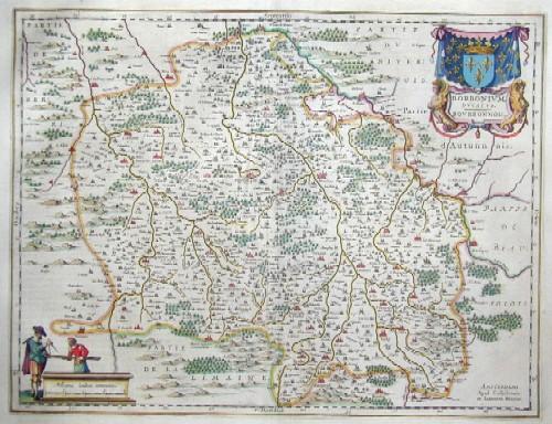 Blaeu Willem Janszoon Borbonium Ducatus. Borbonnois
