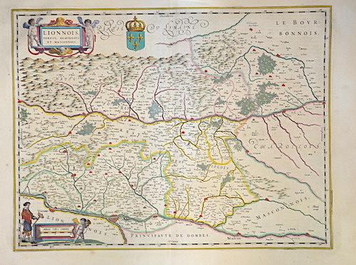 Blaeu Willem Janszoon Lionnais, Forest, Beauiolois et Masconnois.