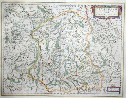 Blaeu Willem Janszoon Nivernium Ducatus, Gallice Duche De Nevers.