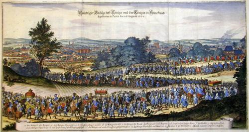 Merian  Prächtiger Einzug deß Königs und der Königin in Frankreich so geschehen in Paris dem 26 Augusti 1660
