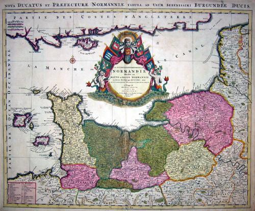 Jaillot  Nova ducatus et Praefecturae Normanniae tabula, ad usum serenissimi Burgundiae ducis