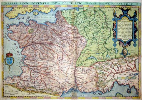 Ortelius  Galliae regni potentiss nova descriptio, Ioanne Ioliveto auctore
