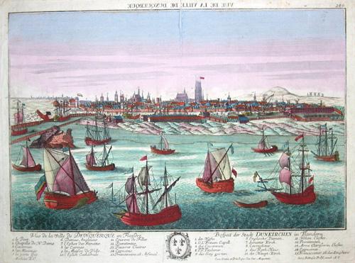Probst Johann Friedrich Vue de la ville de Dunquerque en Flandri/ Prospect der Stadt Dünkirchen in Flandern