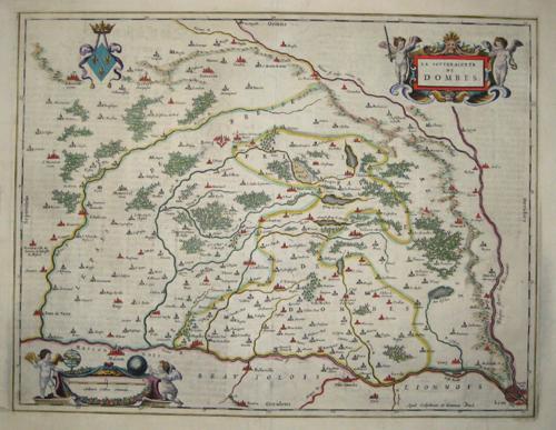 Blaeu Willem Janszoon La souveraineté de Dombes