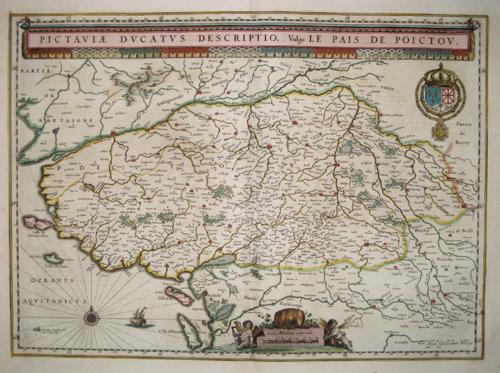 Blaeu  Pictauiae ducatus descriptio, vulgo Le pays de Poictou