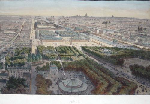 Lemercier / Levasseur  Paris vue pris au dessous du Ronde- point des Champs- Elysees