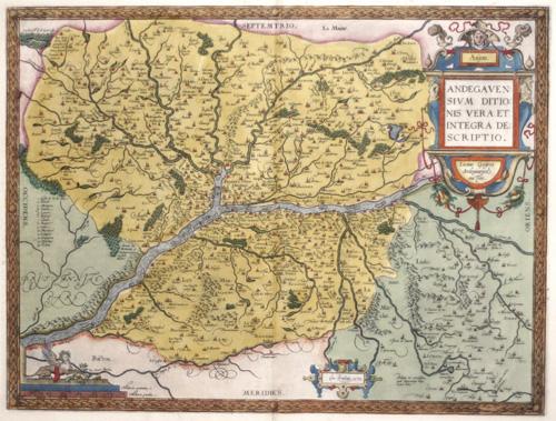 Ortelius  Anjou / Andegavensium Ditionis Vera et Integra Descriptio