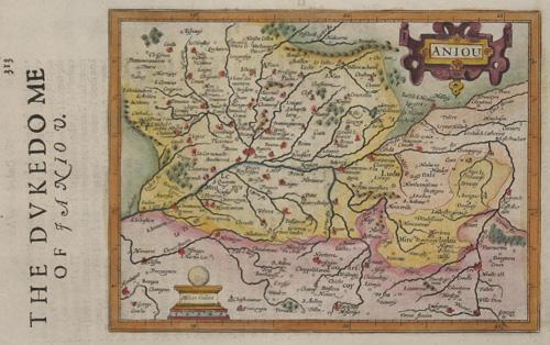 Hondius/Sparke Joducus The dukedome of Aniou/ Aniou