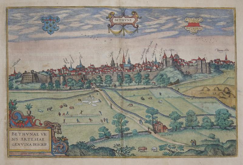 Braun/Hogenberg  Bethune/ Bethunae urbis artesiae genuina descrip.