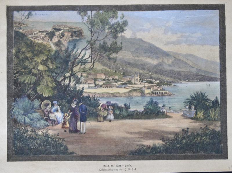Nestel  Blick auf Monte Carlo