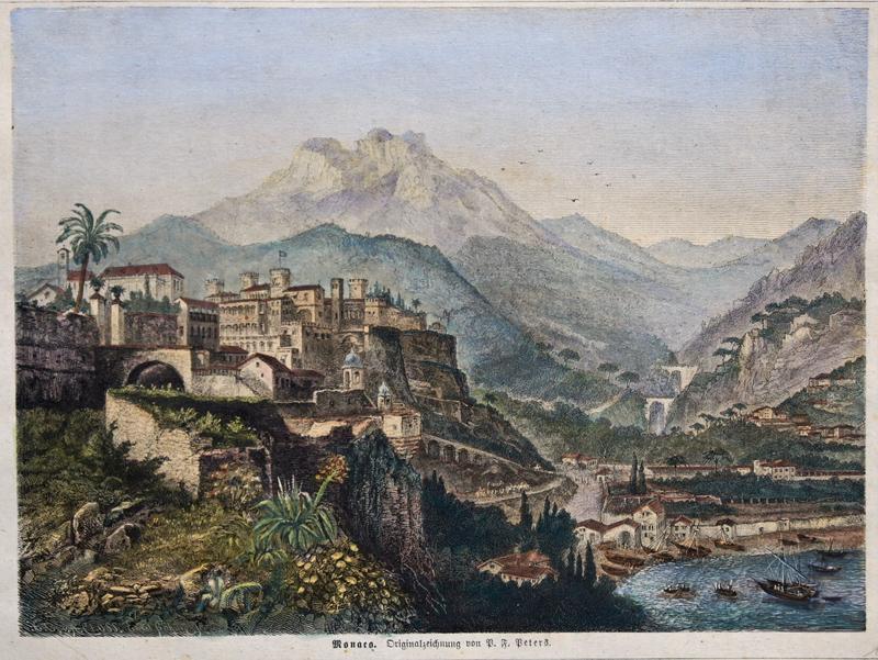 Böhme  Monaco. Originalzeichnung von P. F. Peters.