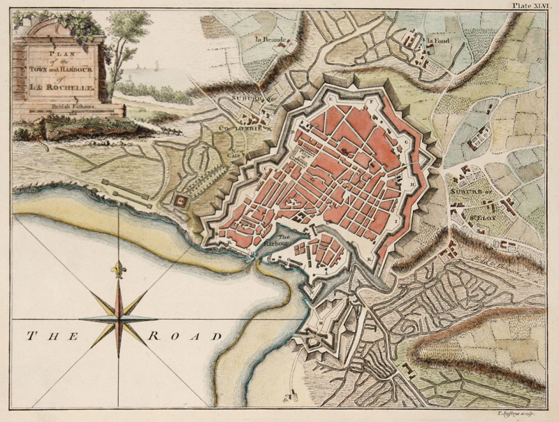 Jefferys Thomas Plan of the Town and Harbour of La Rochelle.