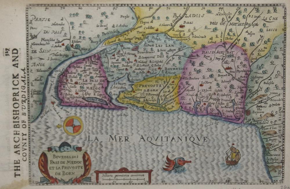 Sparke Michael Bourdelois Pais de Medocet la Prevoste de Born / The Arch Bishoprick and County of Burdigala.