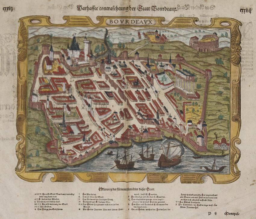 Münster  Warhaffte contrafehtung der Statt Bourdeaux.