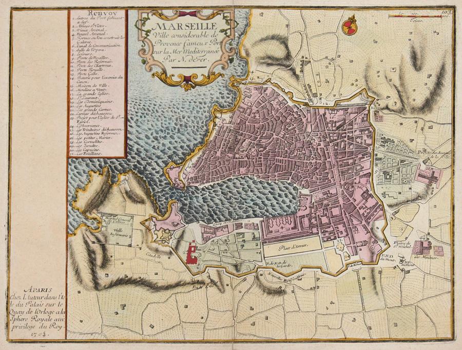 Fer, de Nicolas Marseille Ville considerable de Provence fameux Port sur la Mer Mediterranee