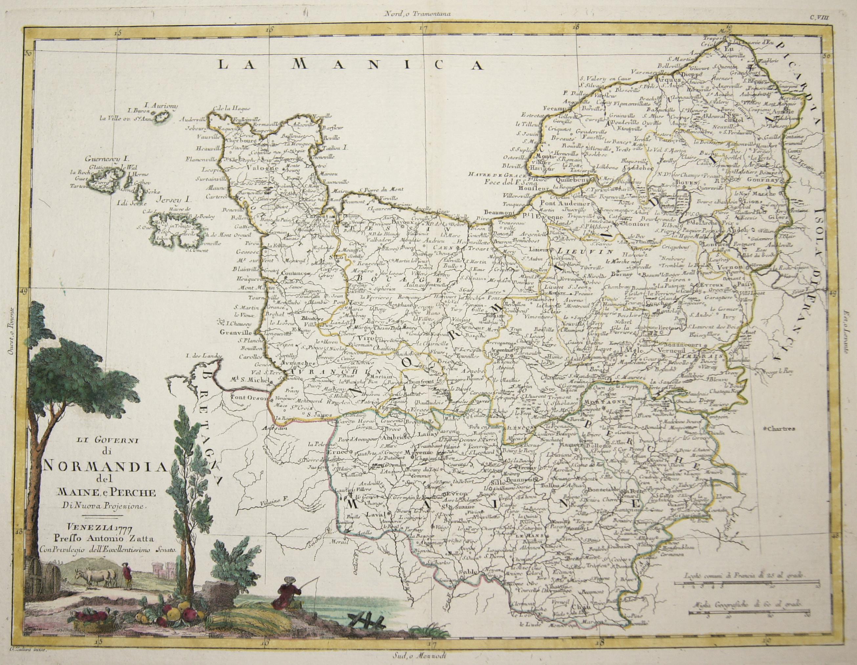 Zatta Antonio Li Governi di Normandia del Maine, e Perche