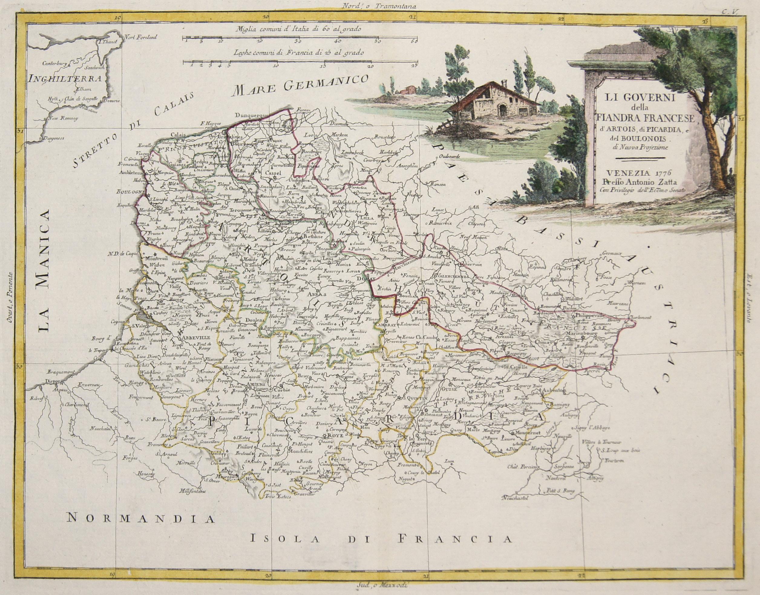 Zatta  Li Governi della Fiandra Francese, kd'Artois, di Picardia, e del Boulonois.
