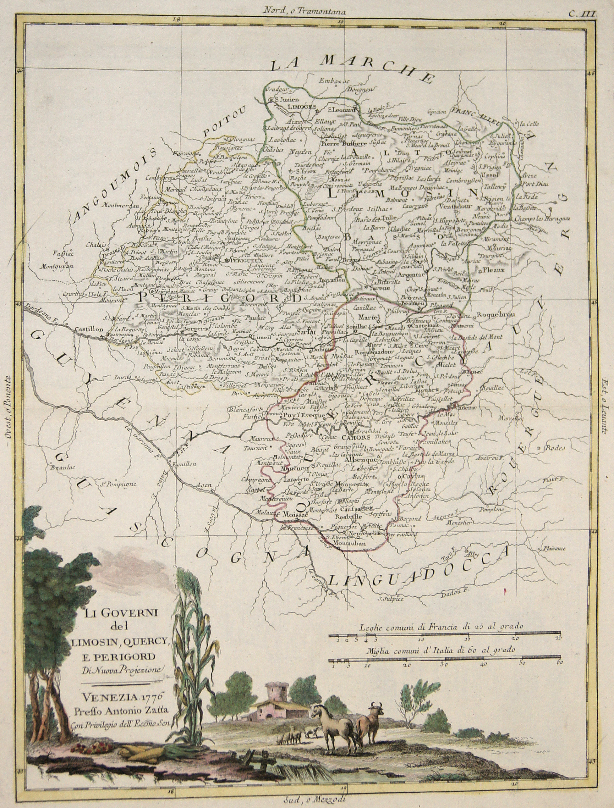Zatta  Li Governi del Limosin, Quercy, e Perigord