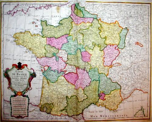 Dezauche/de l´Isle, J.C. / Guillaume Carte de France