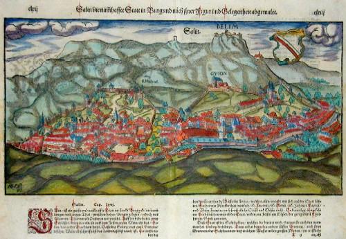 Münster  Salin die namhaffte Stadt in Burgund nach ihrer Figur und Gelegenheit abgemalet