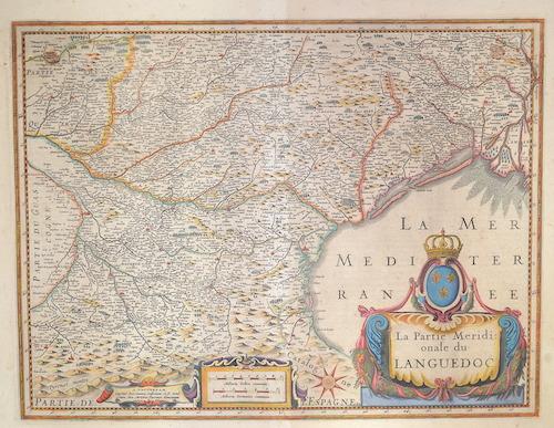 Janssonius  La partie meridionale du Languedoc