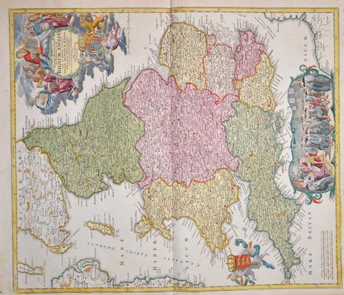 Homann Johann Babtiste Magnae Britanniae pars meridionalis in qua Regnum Anglia …