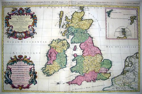 Jaillot Hubert Les Isles Britanniques, ou sont les Royaumes d´Angleterre, d´Escosse, et d´Irlande…….