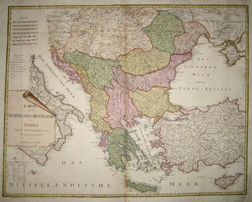 Reilly  Karte von dem Osmanischen Reiche in Europa