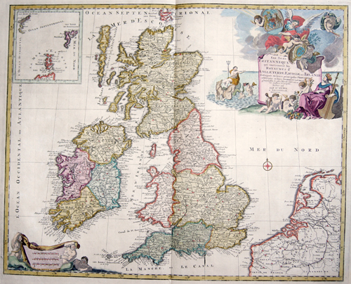 Elwe  Les Isles Britanniques qui contiennent les Royaumes d´Angleterre, Escosse, et Irlande….