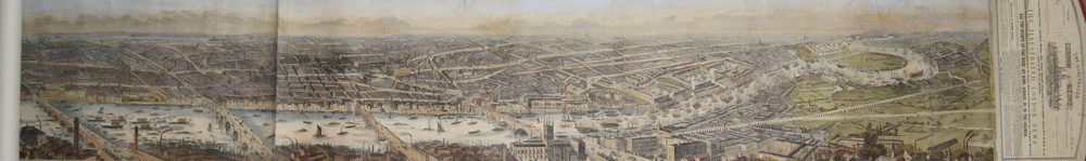 Smyth  Panorama of London and the River Thames.
