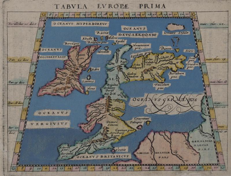 Ruscelli Girolamo Tabula Europae Prima